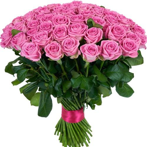 Купить на заказ Букет из 101 розовой розы с доставкой в Байконуре
