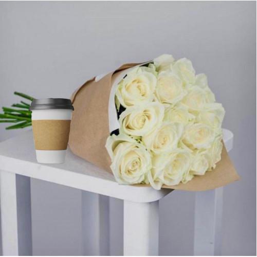 Купить на заказ Кофе с цветами с доставкой в Байконуре